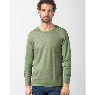 T shirt homme manches longues chanvre, laine de yak et coton bio