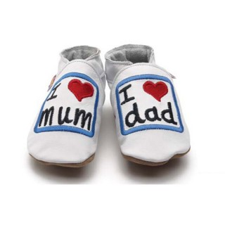 CHAUSSONS CUIR SOUPLE STARCHILD I'm love mum & dad