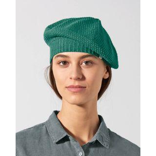 Beret femme tricoté en chanvre et coton bio de la marque Hempage