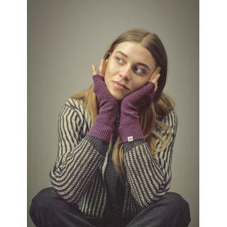 Gants femme tricotés chanvre et coton bio