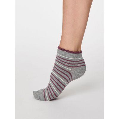 Socquettes femme à rayures de différents coloris