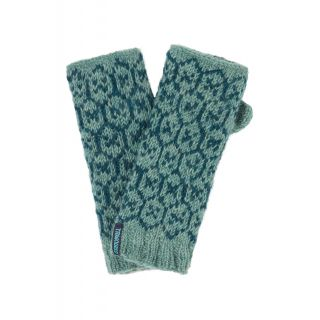 Mitaines, chauffe mains en laine bleu sauge
