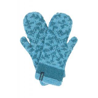 Gants en laine en tricot bleu ciel