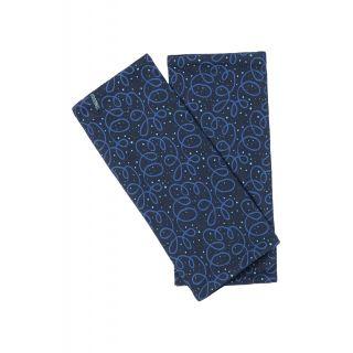 Chauffe mains en coton bio bleu marine
