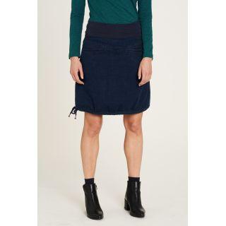 Jupe jean bleue en coton bio avec cordon de serrage dans l'ourlet