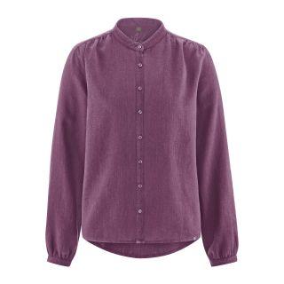 Chemisier manches longues col rond violet purple