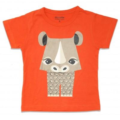 T-shirt mibo rhinocéros