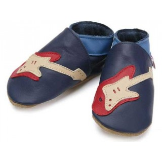 Chaussons cuir souple Starchild Guitare navy