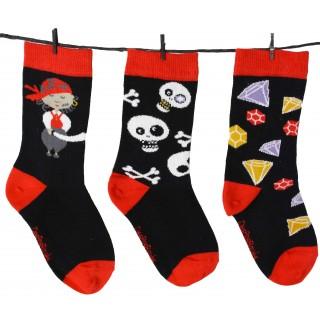 Chaussettes enfant pirate de la marque DesPasRayés