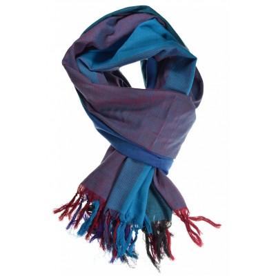 Cheche foulard camaieu turquoise chine