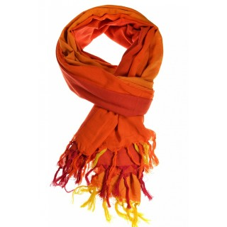 Cheche foulard camaieu orange chine