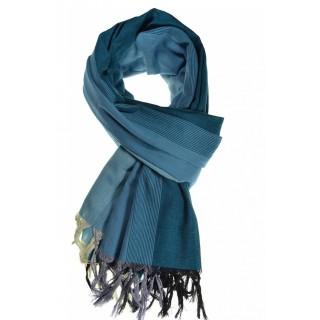 Cheche foulard camaieu bleu