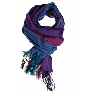 Cheche foulard violet bleu fushia