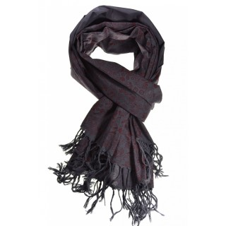 Cheche foulard gris bordeau