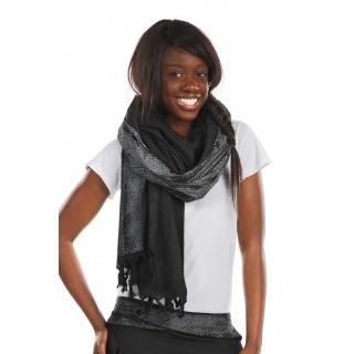 Echarpe foulard noir gris