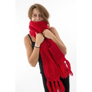 Écharpe moufle rouge