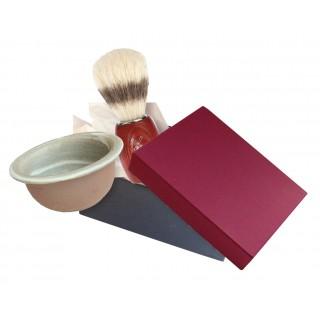 Coffret barbier bol savon