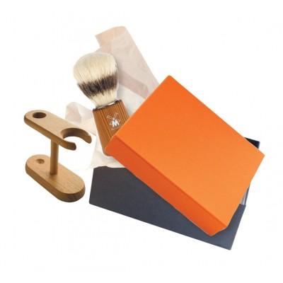 Coffret barbier porte blaireau et blaireau