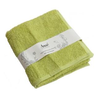 Serviette de toilette vert anis en coton bio