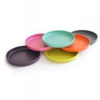 6 coloris au choix pour le pack de 4 assiettes creuses mono couleur bambino