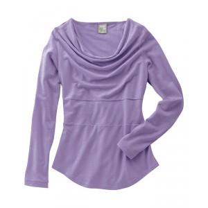 Haut drapé lilas chanvre coton bio Rhianna