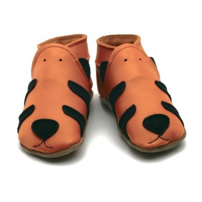 CHAUSSONS CUIR SOUPLE tigre