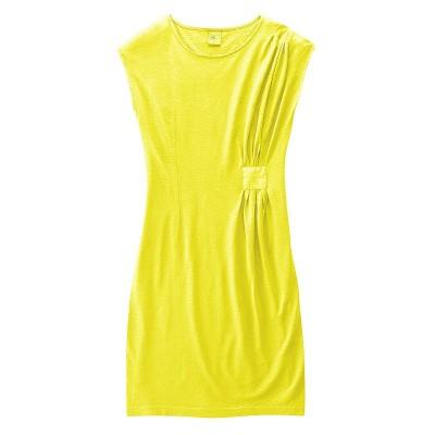 Robe jaune chanvre et coton bio Jessy