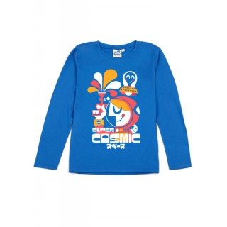 T-shirt bleu Super Cosmic