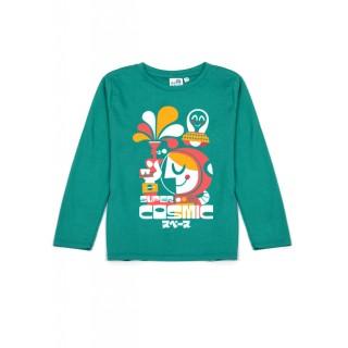 T-shirt vert Super Cosmic
