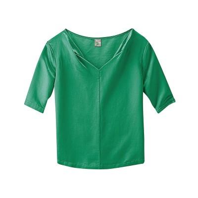 """Haut """"Angie""""blouse tunique soie chanvre vert"""
