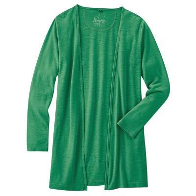 Gilet coton bio chanvre vert