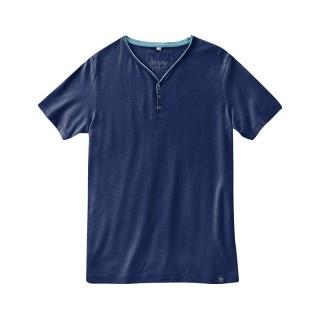T-shirt V avec boutons
