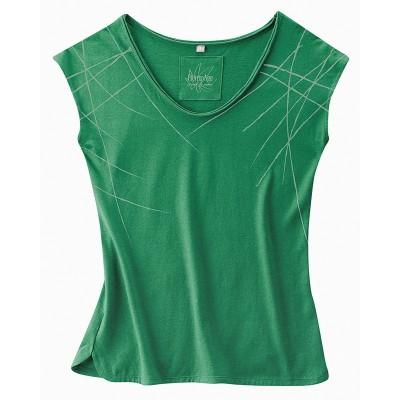 Haut vert sans manches femme avec imprimé