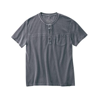 Tee-shirt col Henley chanvre coton bio Howard