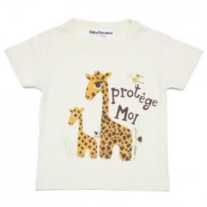 T-shirt blanc girafe