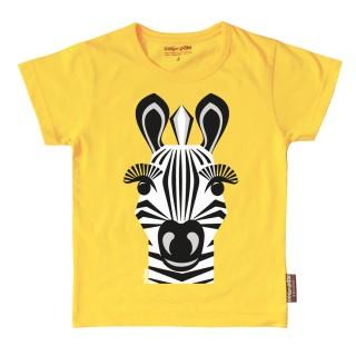 T-shirt coton bio jaune Zèbre