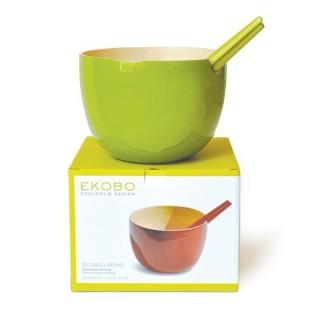 Saladier Globo, couleur lime, marque EKOBO écologique et design