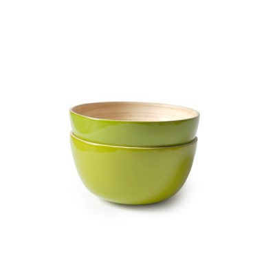 Couleur Lime, DEUX GRANDS BOLS,Bo Large, marque EKOBO écologique et design