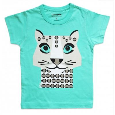 T-shirt Léopard des neiges