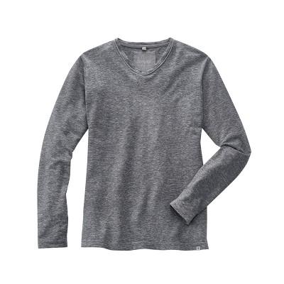 t-shirt manches longues Volker mélange gris