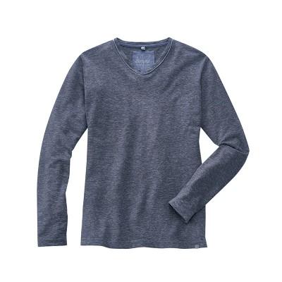 t-shirt manches longues Volker bleu