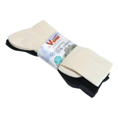Lot de 3 chaussettes coton bio