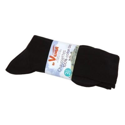 Lot chaussettes noires coton bio