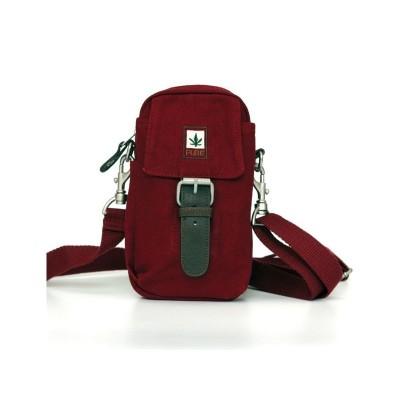 sac ceinture et bandoulière avec petite feuille de canabis