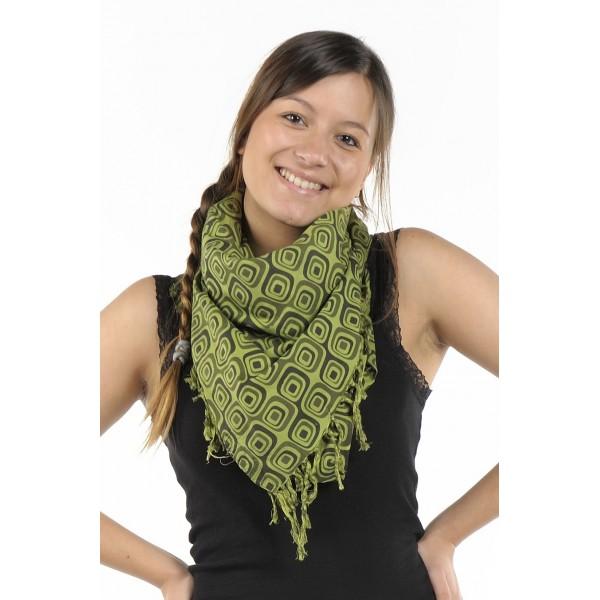957c2e7ca7f Cheche foulard kaki noir psyche - Sao-Bio