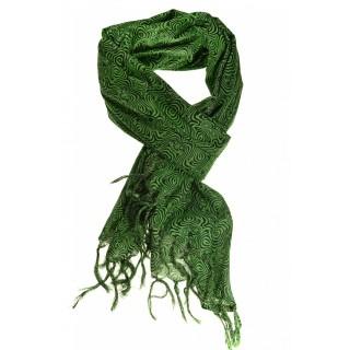Cheche foulard vert et noir psyche