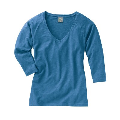 Raglan couleur sea col V