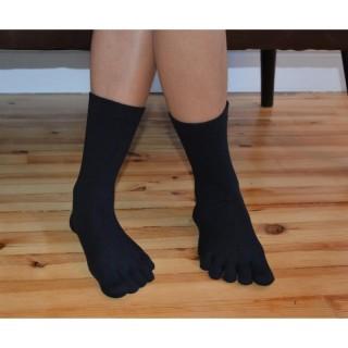 Chaussettes doigts bio noires