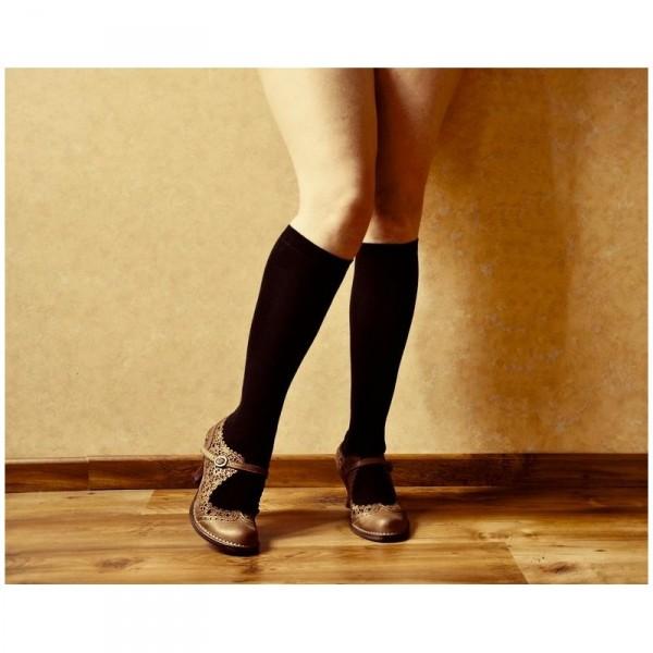 chaussettes hautes noires sao bio. Black Bedroom Furniture Sets. Home Design Ideas