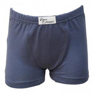 Boxer gris coton bio